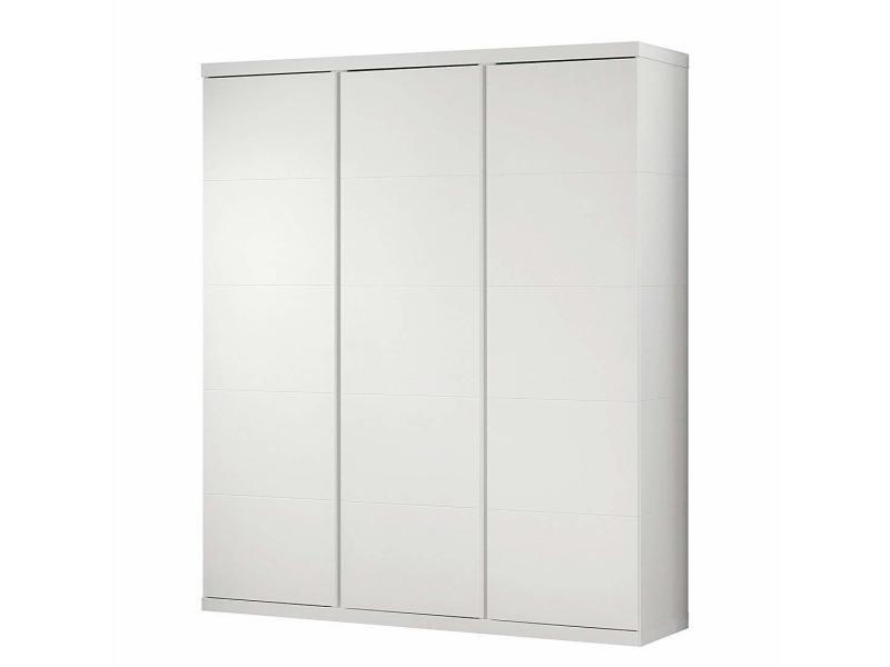 Vipack lara armoire 3 portes laqué blanc LAKL1314