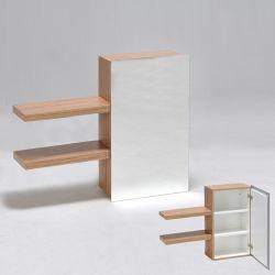 Armoire miroir + 2 tablettes lounge / zebrano