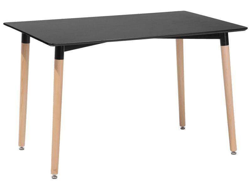 Table de salle à manger - table de cuisine - noir - 120x80 ...