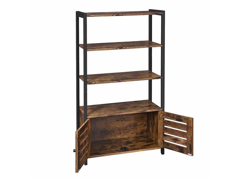 Bibliothèque, meuble de rangement, multifonctionnel, vintage lsc75bx vasagle Avec 3 Étagères et ...