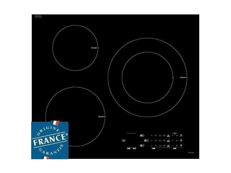 Sauter spi6300 - table de cuisson induction - 3 zones - 7200 w - l 60 x p 52 cm - revetement verre - noir SAU3660767956643