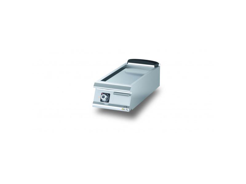 Plancha electrique lisse aisi 430 diamante 90 - 400 à 1200 mm - olis - acier 400 mm
