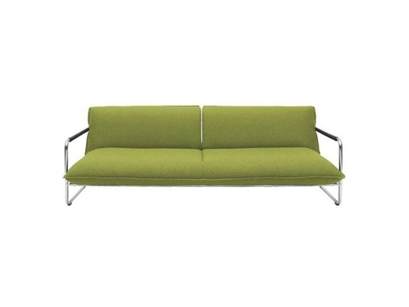 Canape Lit Convertible Design Nova 3 Places En Tissu Laine Vert