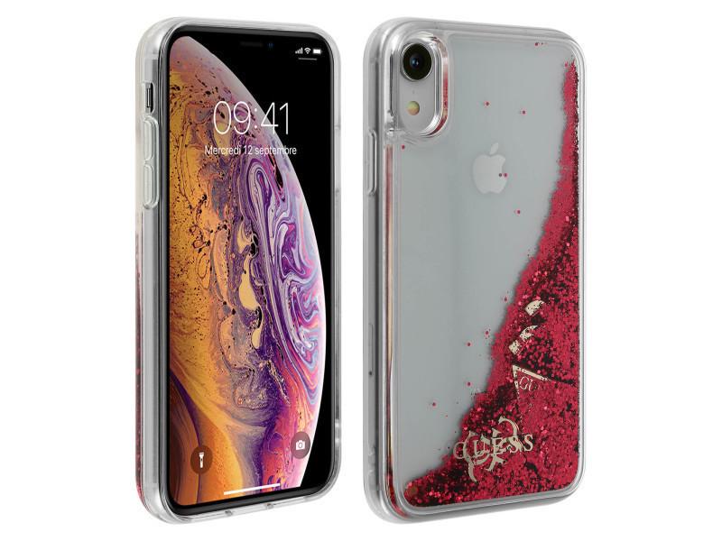 iphone xr coque liquide paillette