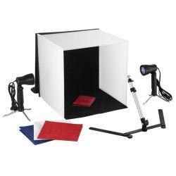 Kit mini studio photo vidéo cube trépied lampe lumiére photo vidéo studio professionnel 1802023 helloshop26 1802023/7