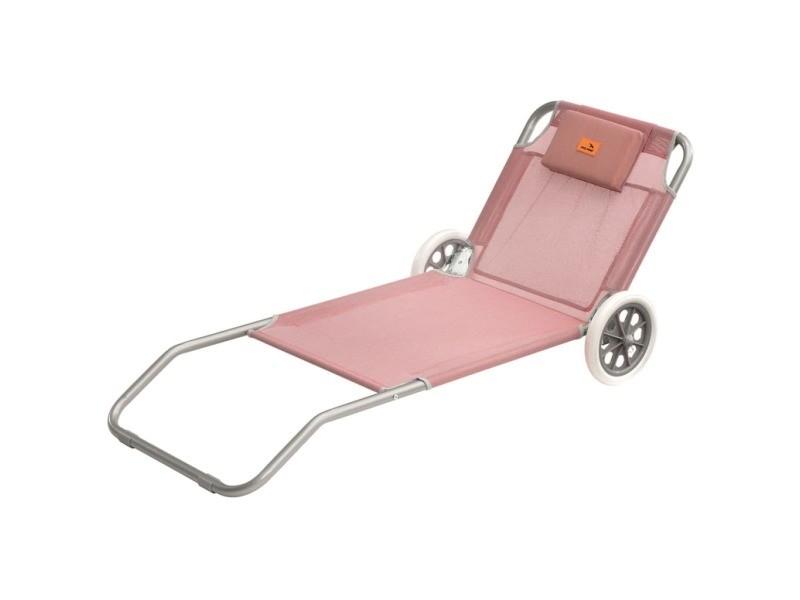 Easy camp chaise longue de plage pier rose 62 x 150 x 22 cm 420045 419890