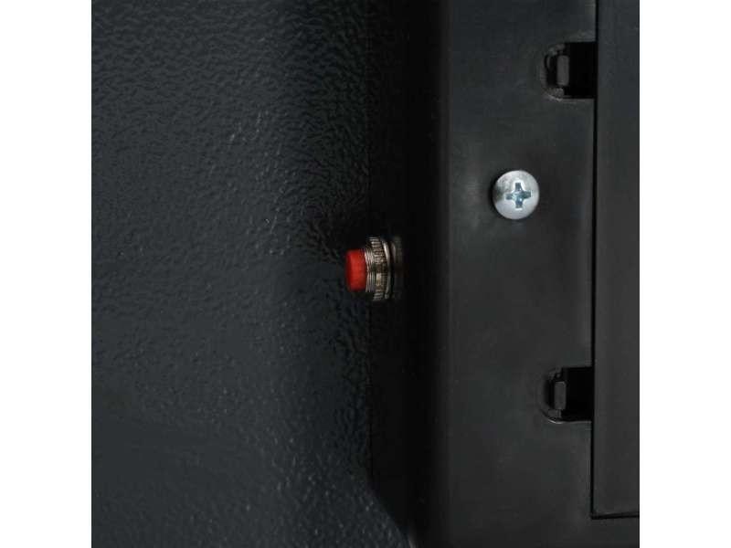 Icaverne - coffres-forts reference coffre-fort numérique gris foncé 42 x 37 x 20 cm