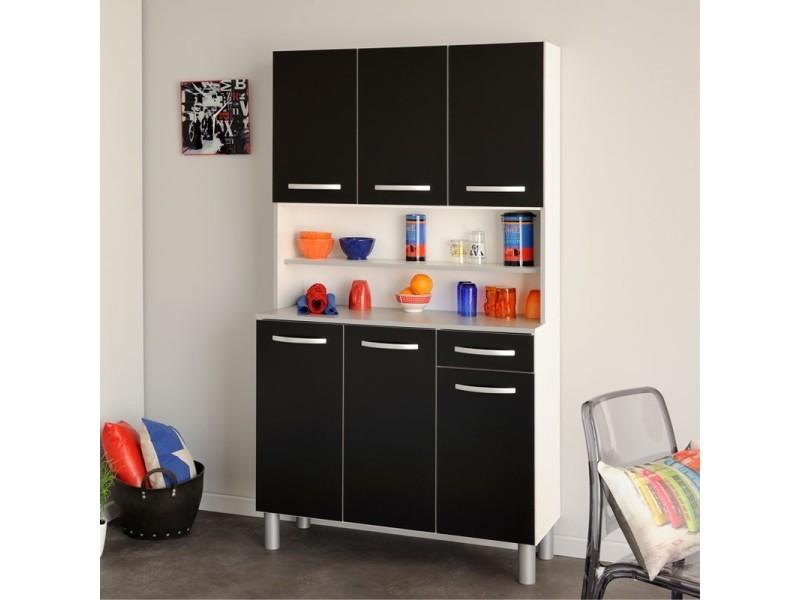 buffet de cuisine noir timothy l 101 x l 40 x h 185 neuf vente de tousmesmeubles conforama. Black Bedroom Furniture Sets. Home Design Ideas