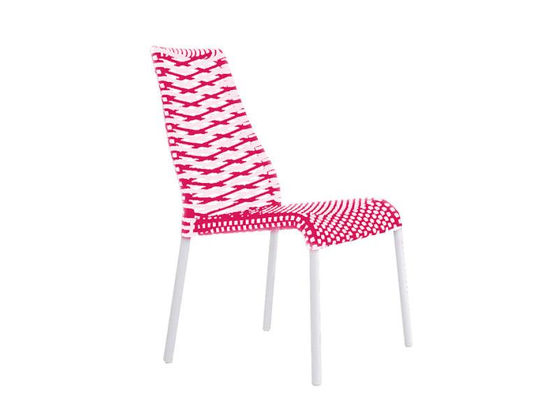 Lot de 2 chaises résine tressées framboise primavera color 35_902299