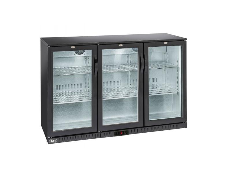 Arrière bar réfrigéré laqué noir - 1 à 3 portes vitrées battantes - afi collin lucy - r600a 1 porte 320 litres vitrée/battante