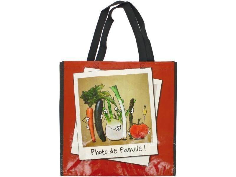 Cabas pour courses sac shopping bd picto photo de famille