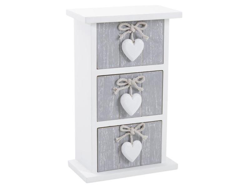 mini chiffonnier en bois avec 3 tiroirs laqu blanc pegane vente de chiffonnier conforama. Black Bedroom Furniture Sets. Home Design Ideas