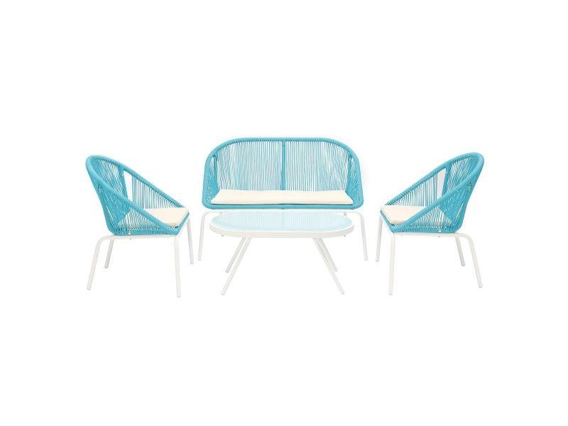 Salon de jardin design en résine bleue sunny - Vente de Salon de ...