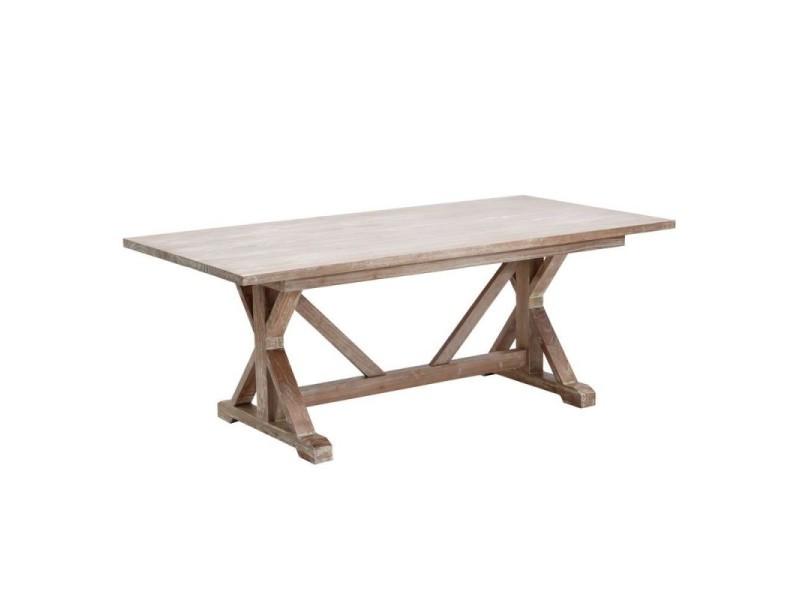 Table à manger 200 cm en bois de mindy carles - l 200 x l 100 x h 76
