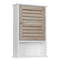 Meuble haut de salle de bain blanc bois