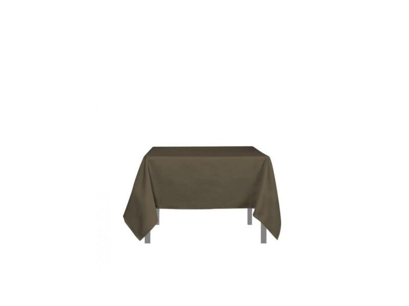 Nappe carré anti-tâches alix - l 180 x l 180 cm - marron