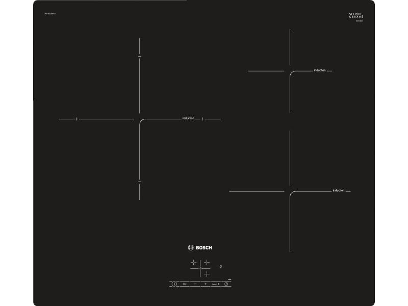 Table de cuisson induction 60cm 3 feux 4600w noir - puj611bb1e puj611bb1e