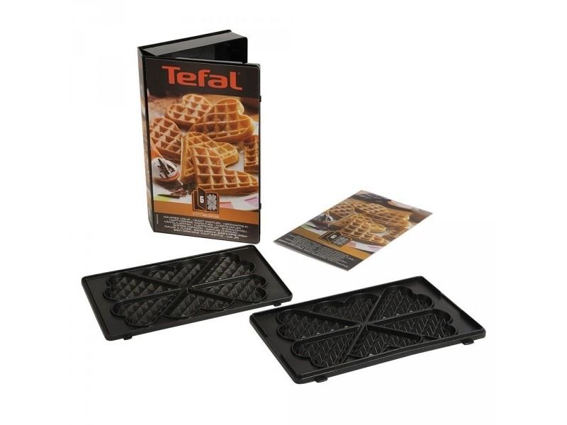 Coffret plaques 2 gaufres coeur snack collection tefal