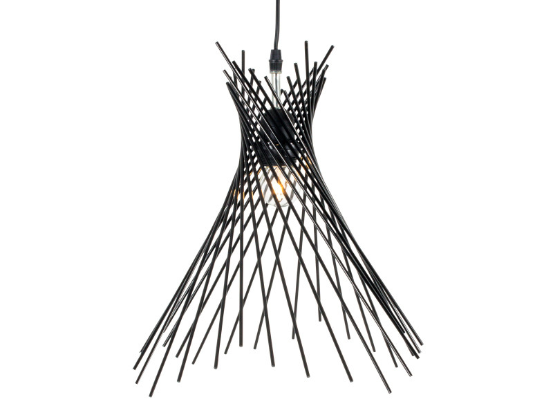 suspension filaire kyle noire en m tal vente de keria. Black Bedroom Furniture Sets. Home Design Ideas