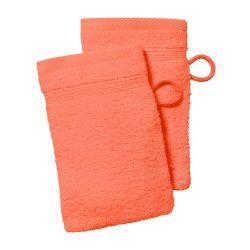 Lot 2 gants 16x21cm 500gr/m2 100% coton abricot
