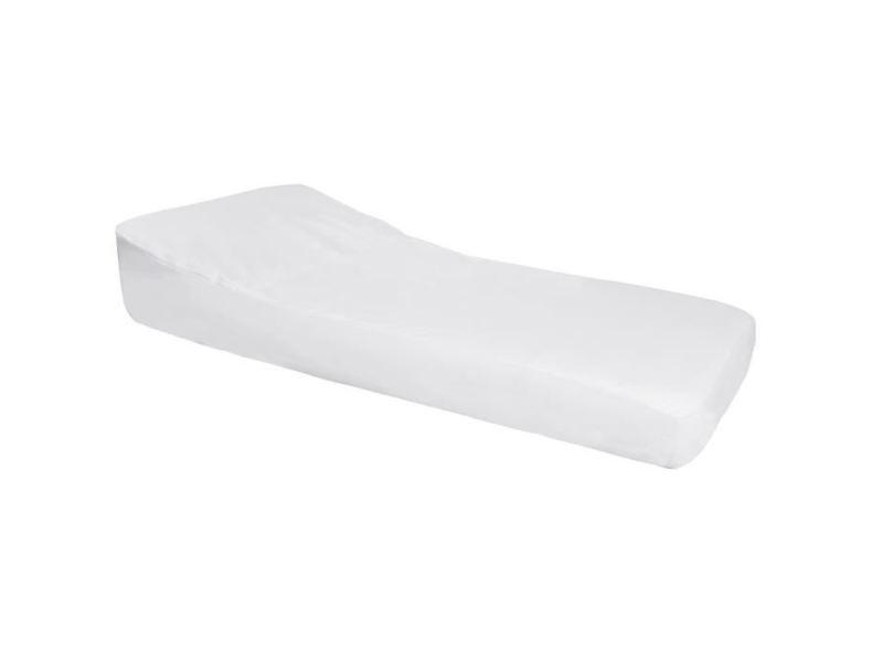 Drap housse nova drap housse imperméable pro secur spécial plan incliné 15° - perle / blanc - 70x140 cm