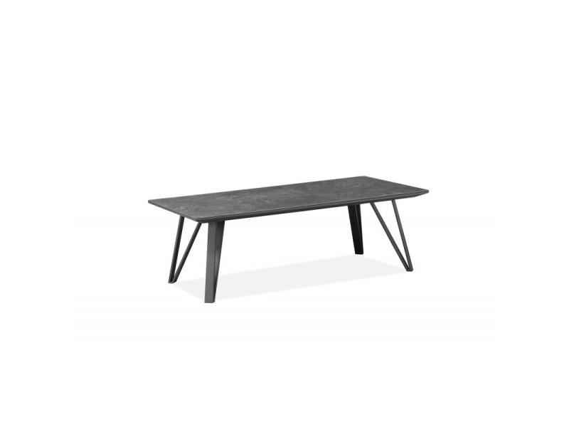 Table basse gris anthracite céramique - onyx
