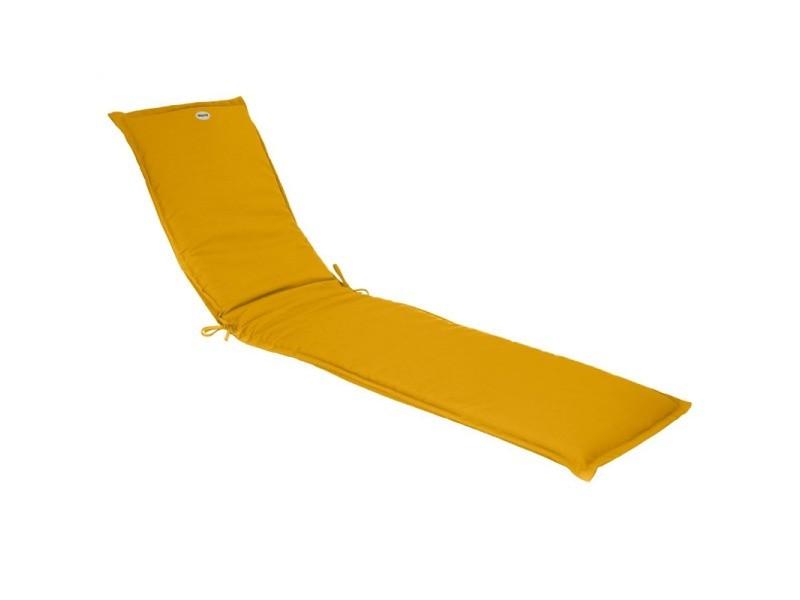 Coussin transat korai 190 cm jaune moutarde hespéride