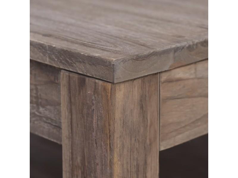 Vidaxl table basse 68x68x35 cm bois de teck massif 288298