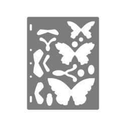 Fiskars - gabarit de découpe papillons