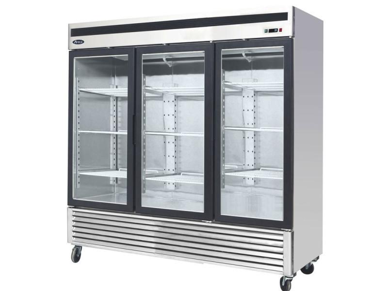 Armoire réfrigérée vitrée négative 3 portes - 2050 l - atosa - r290 3 portes vitrée