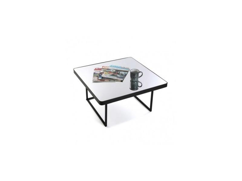 Table basse plateau miroir carrée oporto 10850092