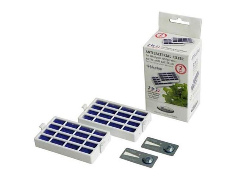 Lot de 2 filtres antibactérien microban réfrigérateur, congélateur wpro 480131000232, antf-mic2