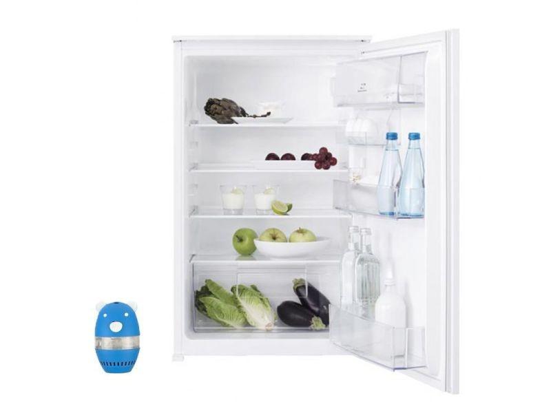 Réfrigérateur frigo simple porte intégrable 142l froid statique clayette verre