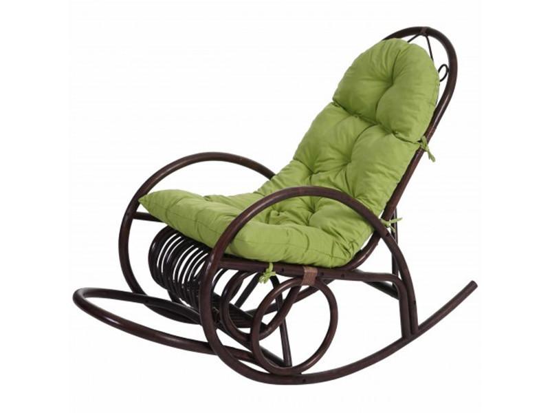 Rocking-chair coloris vert, h 110 x l 58 x p 139 cm -pegane-