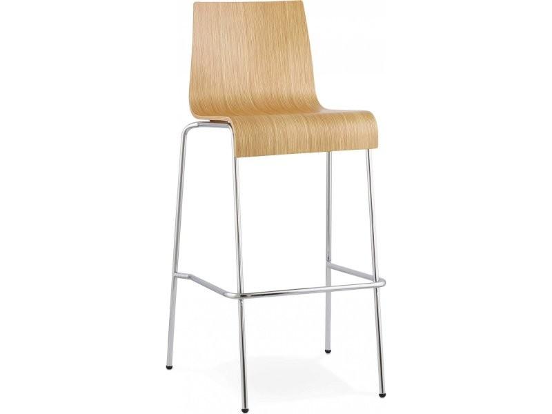 tabouret de bar bois bois cobe bs01230na vente de kokoon design conforama. Black Bedroom Furniture Sets. Home Design Ideas