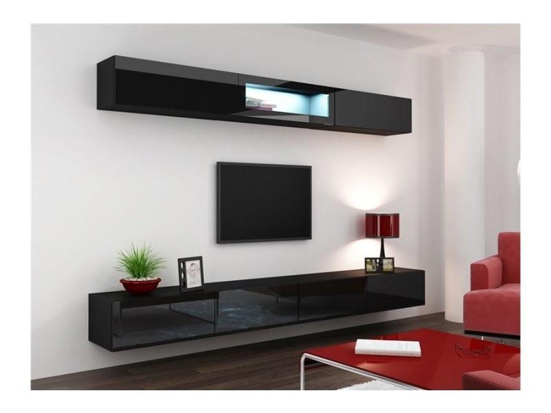 Meuble Tv Design Suspendu Bini Noir Vigo 12 Bodyblack