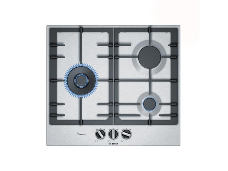 Plaques de cuisson contemporain plaque au gaz bosch pcc6a5b90 60 cm (3 feux à gaz)
