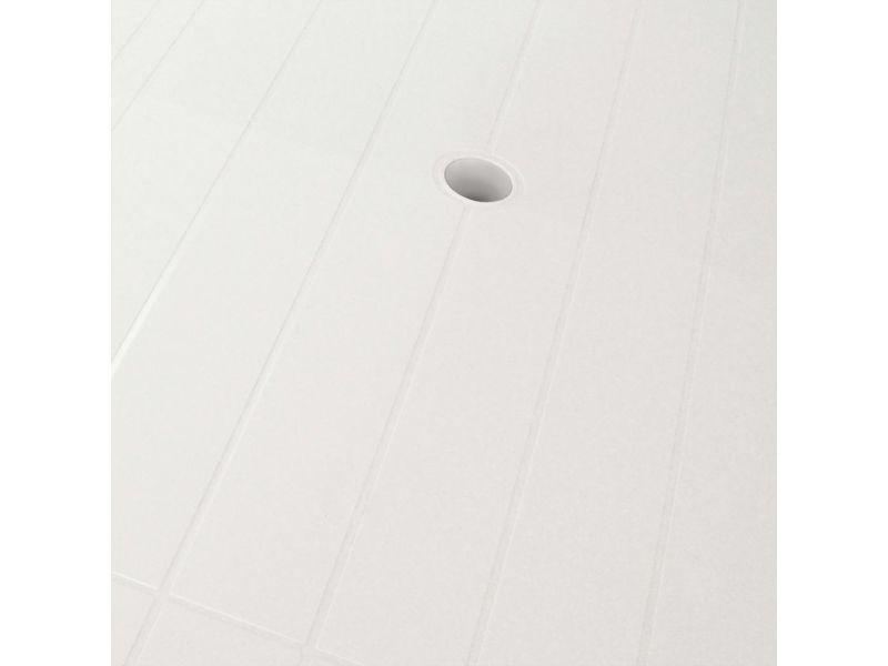 Icaverne - tables d'extérieur edition table de jardin 126 x 76 x 72 cm plastique blanc