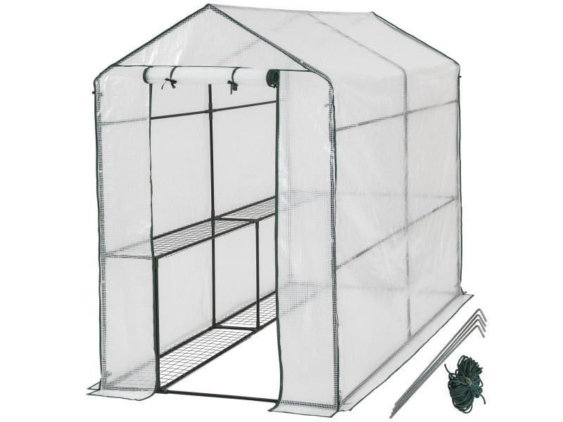 Tectake serre de jardin souple 2,23 m² 401861