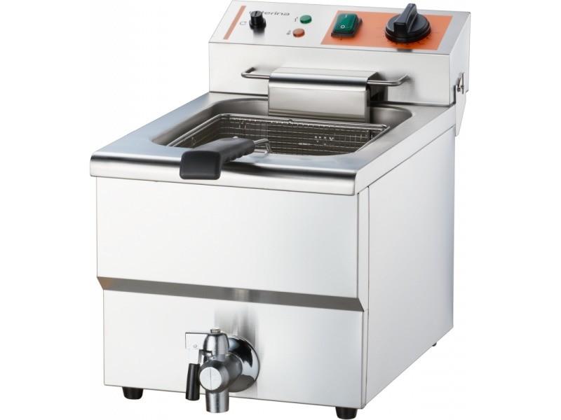 Friteuse inox avec robinet - simple ou double - stalgast -