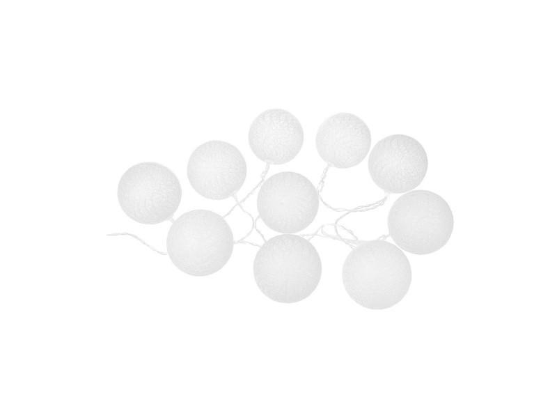 Atmosphera - guirlande led à piles 10 boules
