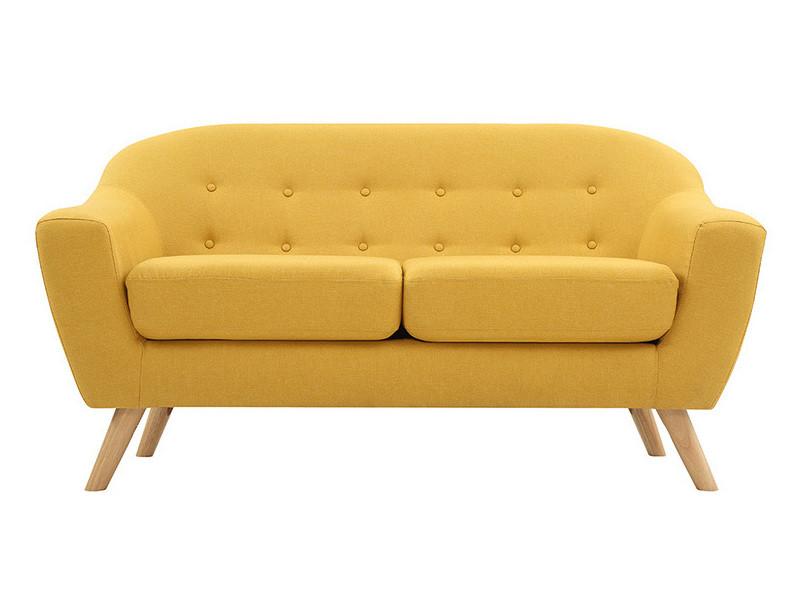 canap scandinave moutarde 2 places vente de canap. Black Bedroom Furniture Sets. Home Design Ideas