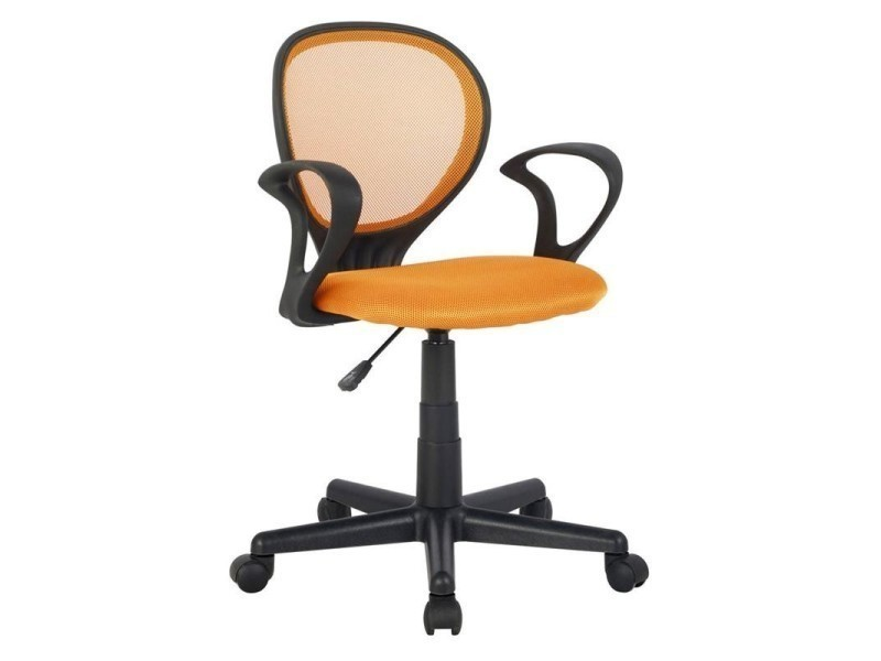Chaise de bureau zoe orange conforama