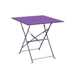 Table de jardin pliante camarque - 70 x 70 cm - violet