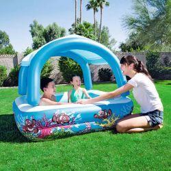 Bestway piscine avec auvent bleu 147 x 122 cm 54153