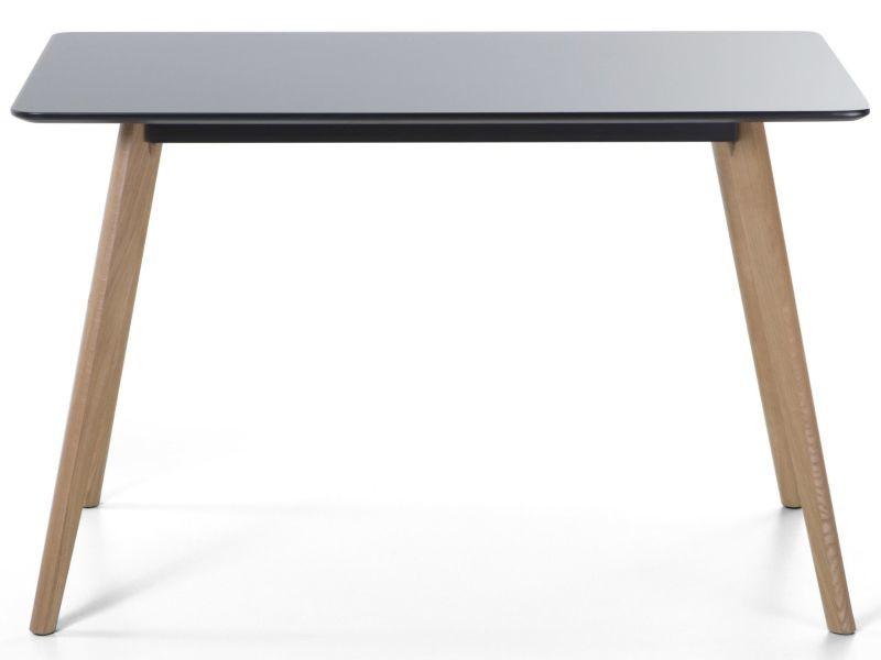 Table à manger noire 120 x 80 cm fly ii 126113