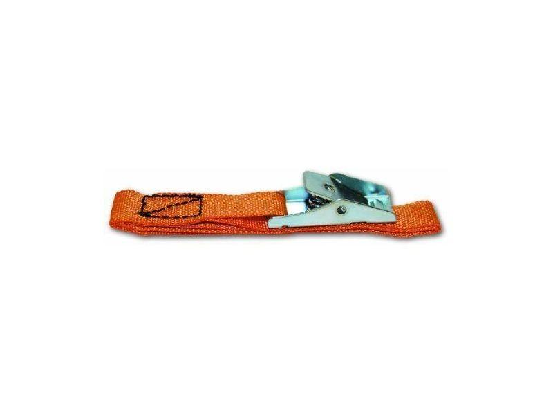 Corde - sangle - sandow - chaine lot de 2 sangles avec boucle métallique - résistance 17 kg - 18 mm x 50 cm - orange