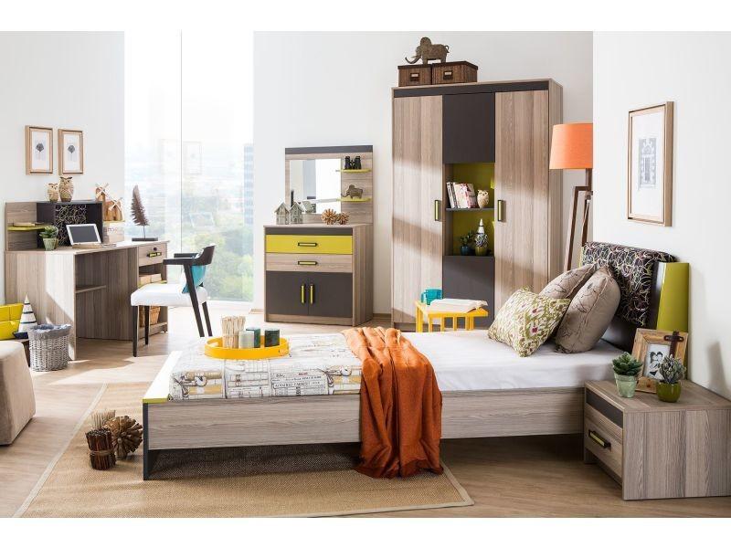 commode ado coloris bois noyer et gris anthracite p 4973 co ego vente de commode conforama. Black Bedroom Furniture Sets. Home Design Ideas