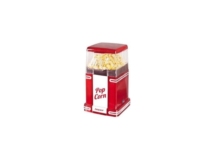 Beper 90.590y machine a popcorn - rouge / blanc