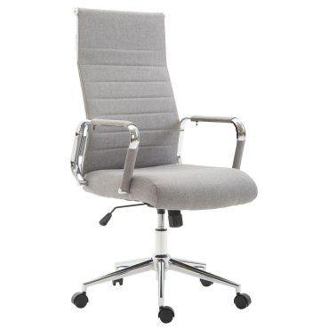 Fauteuil de bureau en tissu gris avec assise rembourrée pivotant bur10235 J24757845